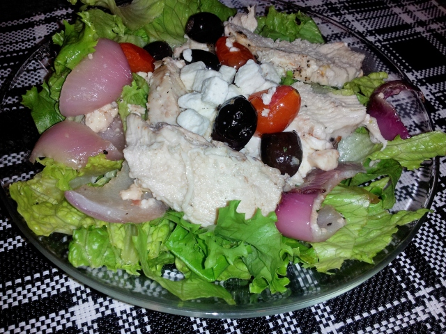 Greek Chicken over Salad