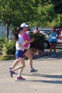 Kathy PR'd her 5K! (Old pic but you get the idea!)