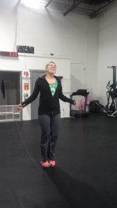 Haley completed her first workout doing all double unders! Look how happy dubs make her!
