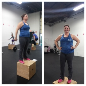 "KDubs RX'd her first workout AND graduated from a 14"" to an 18"" box!"